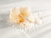 A heap of Himalayan salt