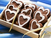 Pfefferkuchen hearts ('pepper cake', a kind of Lebkuchen)