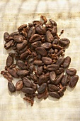 Cocoa beans in a heap