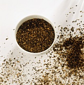 Barley coffee in a small bowl