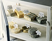 A selection of goat's cheeses