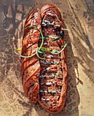 Surprise bread (sandwiches inside loaf of bread)