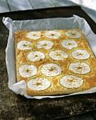 Tray-baked apple cake