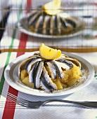 Matje herrings on boiled potatoes