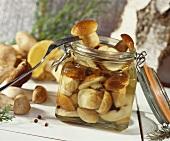 Sweet pickled mushrooms