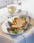 Pork fillet in Roquefort sauce