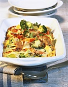 Vegetable bake with raclette cheese