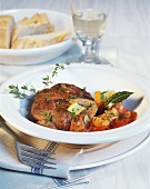Ossobuco alla milanese (Braised veal shank, Italy)