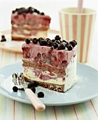 Blueberry ice cream cake