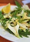Artichoke salad with rocket and Parmesan