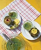 Artichokes with herb vinaigrette
