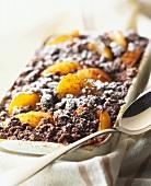 Chocolate apricot crumble