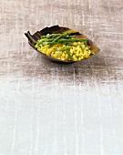 Saffron risotto with green asparagus