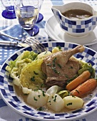 Canette en potée (Duck and vegetable stew, France)