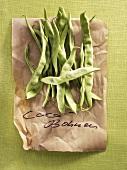 Flat-podded pole beans