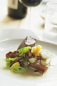 Lamb fillet with chanterelles and potatoes