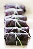 Stuffed red cabbage leaves