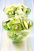 Cucumber, kiwi fruit and avocado salad