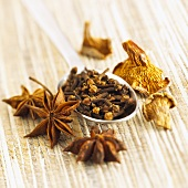 Star anise, cloves and dried mushrooms