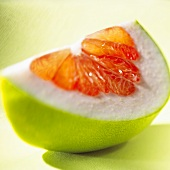 A wedge of pomelo