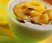 Porridge with apricots