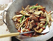 Lamb with oyster sauce