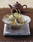 Passion fruit and coconut cream
