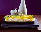 Sticky rice with coconut, mango & toasted sesame (Thailand)