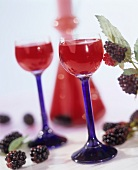 Blackberry liqueur in two glasses
