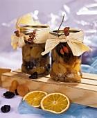 Dried fruit preserved in vodka