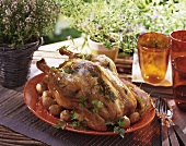 Herb chicken with potatoes
