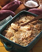 Sweet potato bake with crabmeat