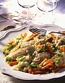 Waterzooi de poulet (Chicken and vegetable stew, Belgium)