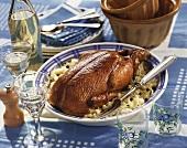 Choucroute de canard (Sauerkraut-Spezialität, Elsass)