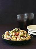 Chick-pea salad with sweetcorn