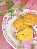 Savoury shortbread on a plate