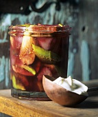 Fig and pear compote