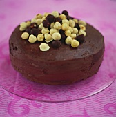 Hazelnut cake with chocolate cream icing