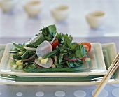 Watercress salad with vegetables