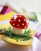 Fly agaric (made from boiled egg and tomato)