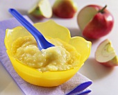 Apple and rice puree