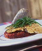 Sea bream fillet with sesame crust and tomato confit