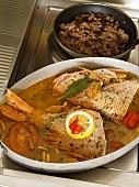 Fish in court bouillon