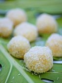 Coconut truffles with grated coconut