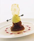 'Wilhelm Tell' (Schokoladenpudding mit Apfelsorbet)