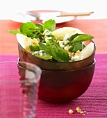 Pear salad with walnuts and Roquefort