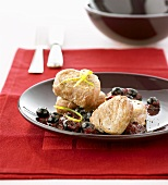 Pork medallions with blueberry salsa