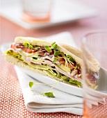 Pita sub sandwich