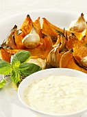 Grilled pumpkin wedges with dip