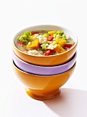 Vegetable soup with pearl barley